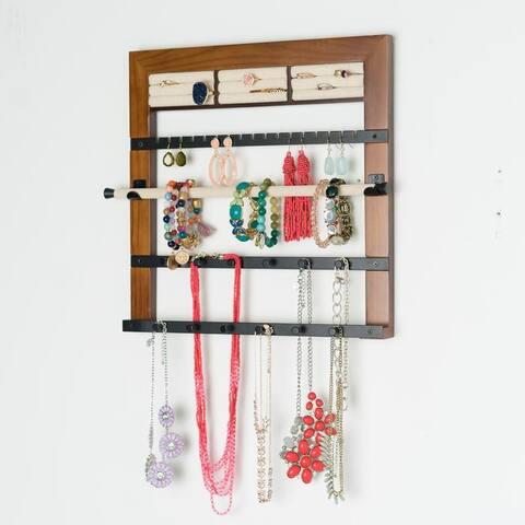 Hives & Honey Jewelry Rack Walnut