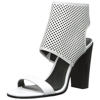Pour La Victoire Womens Georgette Dress Sandals Leather Perforated
