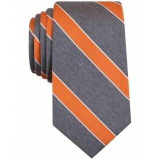 Perry Ellis NEW Orange Gray Men's One Hanley Stripe Size Neck Tie