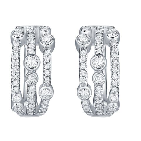 Smiling Rocks Bubbly Collection 0.93Ct G-H/VS1 Lab Grown Diamond Earring