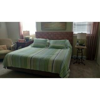 Brooklyn Loom Green Point Yarn-dyed 3-piece Quilt Set