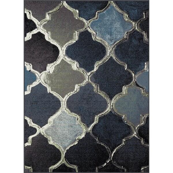 Shop New Moroccan Design Multi Color Black Blue Brown