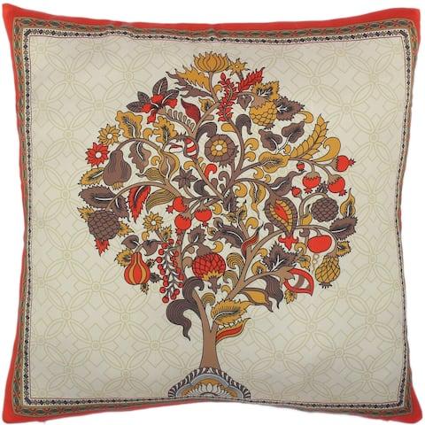 Chelsie Rustic Tree Silk Pillow