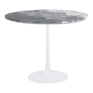 Link to Aurelle Home Modern Geometric Pattern Marble Top Dining Table Similar Items in Dining Room & Bar Furniture