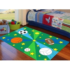 4x6 5x7 7x10 8x10 Feet Boys Girls Basketball Soccer Tennis Sports Kids Area Rug Washable Rubber