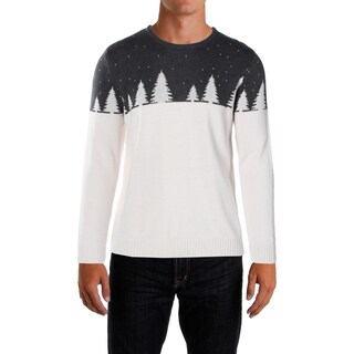 Holiday Arcade Mens Big & Tall Pullover Sweater Colorblocked Long Sleeves