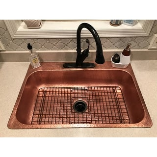 Sinkology Rohe Copper Kitchen Sink Bottom Grid