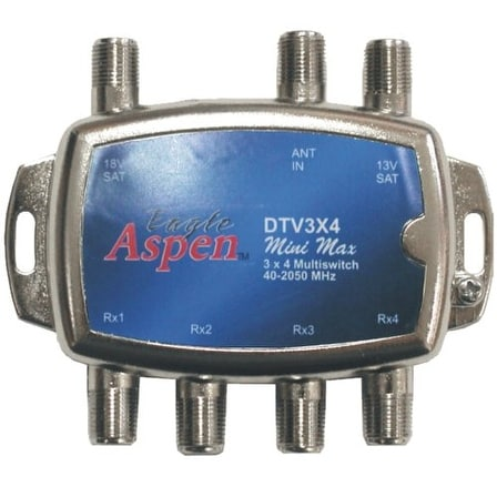 EAGLE ASPEN EASDTV3X4S DirecTV-Approved Min-Max 3-In/4-Out Multiswitch