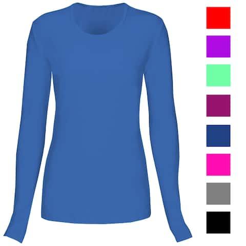 a1914d9ba8e T Flex Womens Comfort Long Sleeve T-Shirt Underscrub Tee Layering Shirt  Uniform