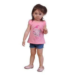 Pulla Bulla Baby Girl Shirt Infant Bird Graphic Tee