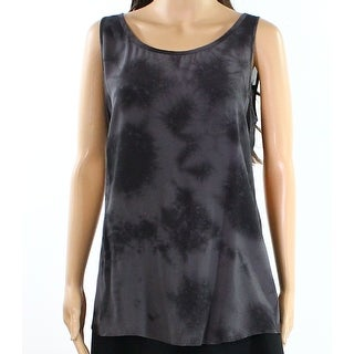 Eileen Fisher NEW Gray Womens Size Small S Abstract-Print Cami Top