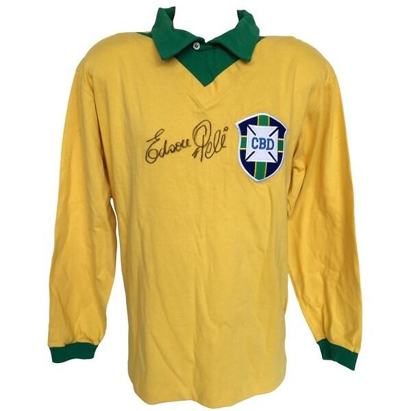 3e9222994 Shop Edson Pele Signed Brazil National Team Long Sleeve Jersey JSA Z81285 - Free  Shipping Today - Overstock - 21950091