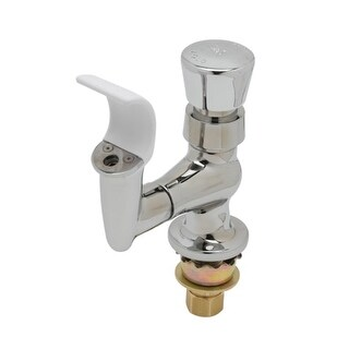 T and S Brass B-2360-01 Single Hole Deck Mounted Bubbler Faucet with Push Button Handle