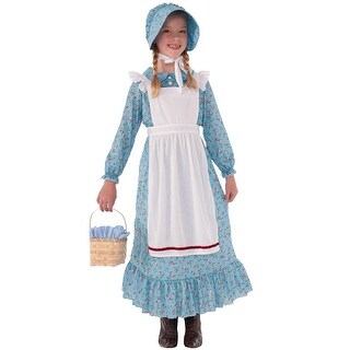 Forum Novelties American Pioneer Girl Child Costume (Large) - Blue - Large