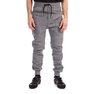 Pierre Balmain Men's Cotton Blend Ribbed Sweatpants Pants Grey