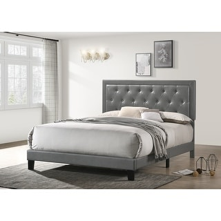 Link to Best Quality Furniture Faux Leather Tufted-Buttons Panel Bed (Queen, Twin, and Full) Similar Items in Bedroom Furniture