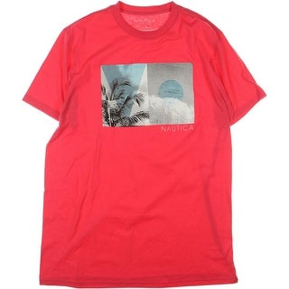 Nautica Mens Photo Collage Graphic T-Shirt
