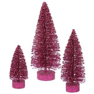 """5""""-7""""-9"""" Dark Mauve Glit Oval Tree Set"""