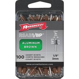 Arrow 1/8X1/8 Brn Alum Rivet
