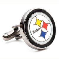 Silver Plated Pittsburgh Steelers Cufflinks