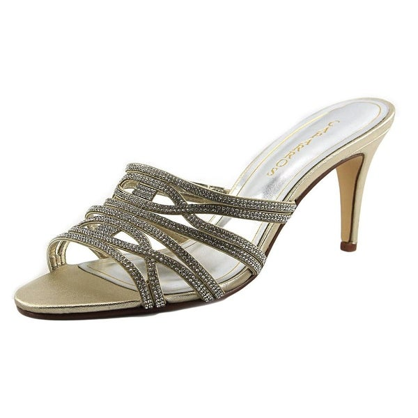 Caparros IMPULSE Women Open-Toe Synthetic Gold Heels