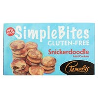 Pamela's Products Simple bites Mini Cookies - Snickerdoodle - Case of 6 - 7 oz.