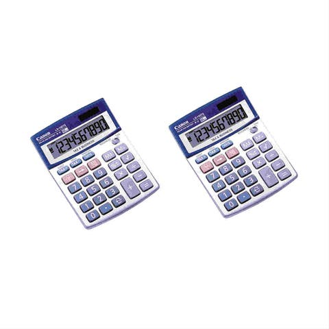 Canon LS100TS Portable Business Calculator (2-Pack) Canon LS-100TS Pocket Calculator - 10 Digit(s) - LCD - Battery/Solar Powered