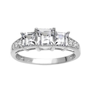 1 3/4 ct White Sapphire Ring in 10K White Gold