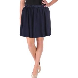 Speechless Womens Juniors Mini Skirt Lace-Trim Glitter - 5