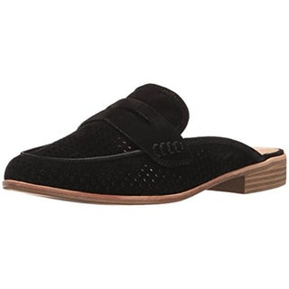 G.H. Bass & Co. Womens Erin Loafer Mule Suede Perforated - 9.5 medium (b,m)
