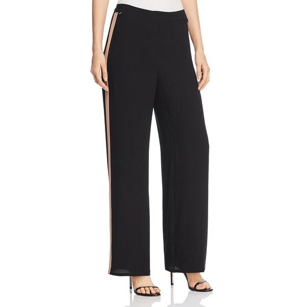 Eileen Fisher Womens Straight Leg Pants Silk High-Waist - Black. Opens flyout.