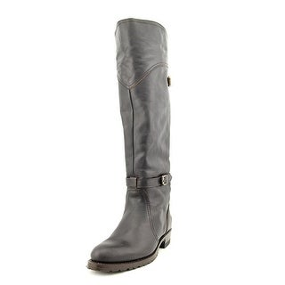 Frye Dorado Lug Riding Women Round Toe Leather Knee High Boot