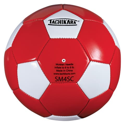 Tachikara SM4SC Recreational Soccer Ball (Red/White) - Red