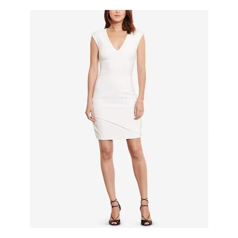 RALPH LAUREN Ivory Cap Sleeve Above The Knee Body Con Dress Size 14