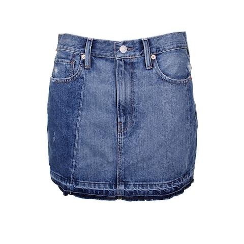 Denim Supply Blue Frayed Denim Mini Skirt 31