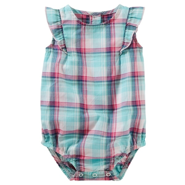 5e7d49f308ae Shop OshKosh B gosh Baby Girls  Plaid Poplin Bodysuit
