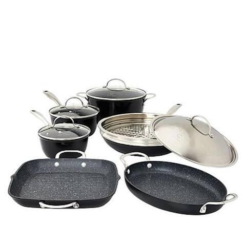 Curtis Stone Dura-Pan 11-piece Cookware Set Model 689-207