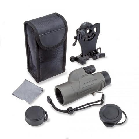 Carson 8x 42mm Waterproof Monocular w Smart Phone Adapter Bundle