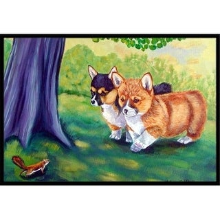 Carolines Treasures 7293MAT 18 x 27 in. Corgi Indoor Outdoor Mat