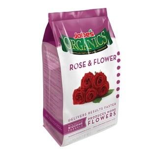 Jobes 09426 Organic Rose & Flower Granular Fertilizer, 4 Lbs