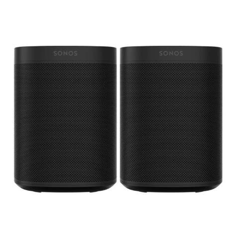 Sonos One SL Wi-Fi Smart Speaker Shadow Edition (2-Pack)