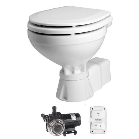 Johnson pump aquat toilet electric compact 12v w/solnoid