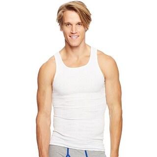 Hanes Classics Men's Traditional Fit ComfortSoft TAGLESS Ribbed A-Shirt 2X-4X, 3-Pack