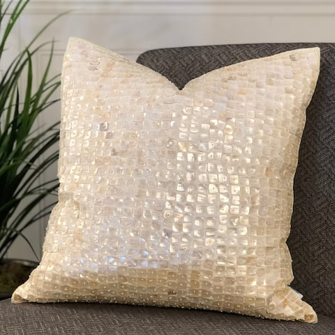 "POSITANO Pillow 20"" with MOP BEADS feather/down fill"