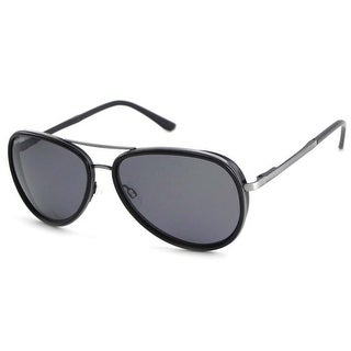 Peppers Polarized Sunglasses Luna Antique Silver/Black with Smoke Lens