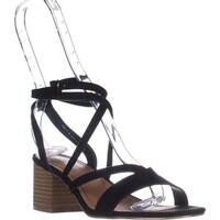 madden girl Leexi Block Heel Ankle Strap Dress Sandals, Black