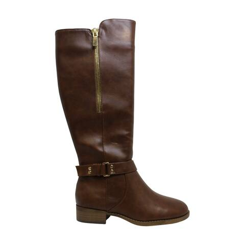 Material Girl Women's Shoes Winnnie Leather Almond Toe Knee High Fashion Boots