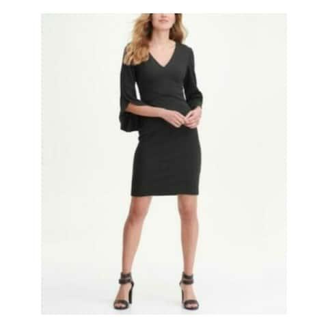 DKNY Black Bell Sleeve Above The Knee Sheath Dress Size 4
