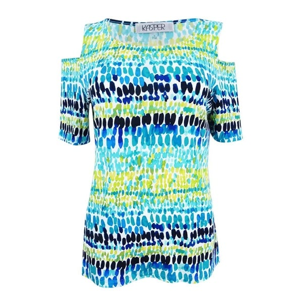 79db228ae95 Shop Kasper Women s Multi Print Cold Shoulder Top - Island Multi - On Sale  - Free Shipping On Orders Over  45 - Overstock - 21455186