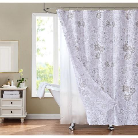 Sunset Park Jupiter 14-Piece Shower Curtain and Liner Set